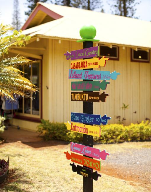 Fun direction signs on Lanai