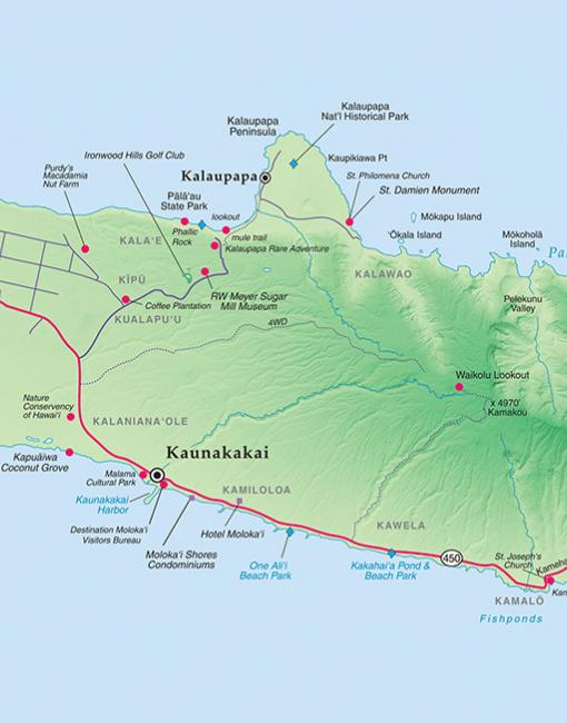 Map of Molokai