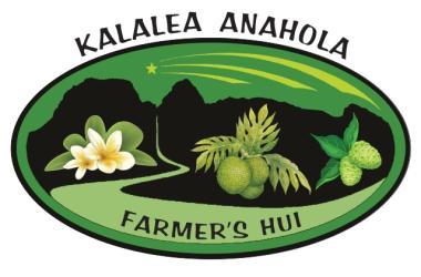Sunday Farmers Market - Kalalea Anahola Farmer's Hui