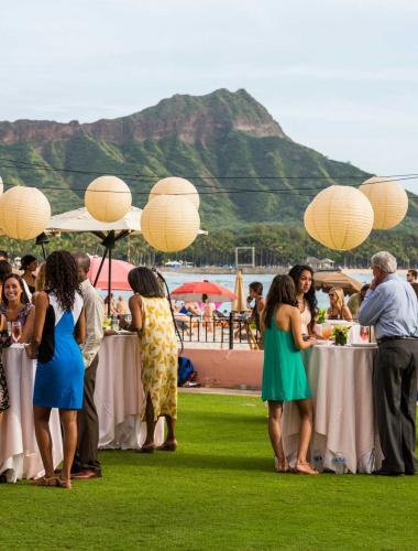 An outdoor wedding in Oahu