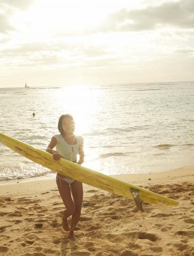 Surfing on Oahu