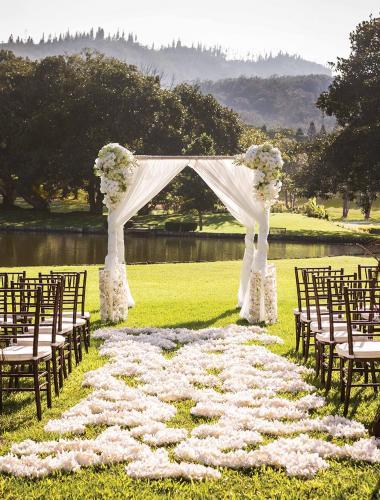 Wedding at the Four Seasons Lanai