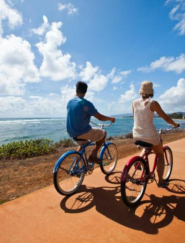 Bicycle riding in Kapaa Town