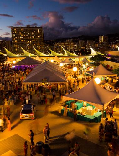 A night market in Oahu