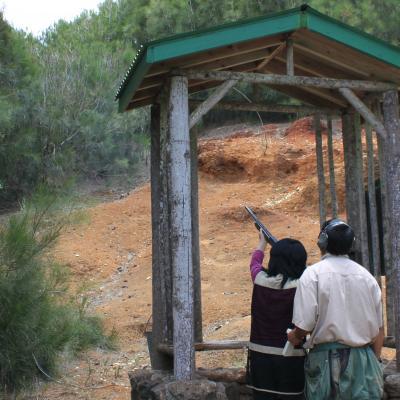 Shooting clays on Lanai
