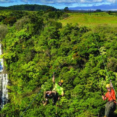 New Waterfall Zipline at Botanical World