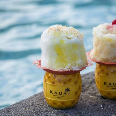 Shave ice poolside