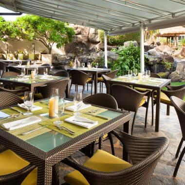 Outdoor terrace seating