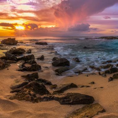 Leeward Coast Beach Sunset