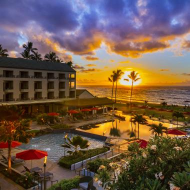 The dawn of a beautiful new day in Kauai