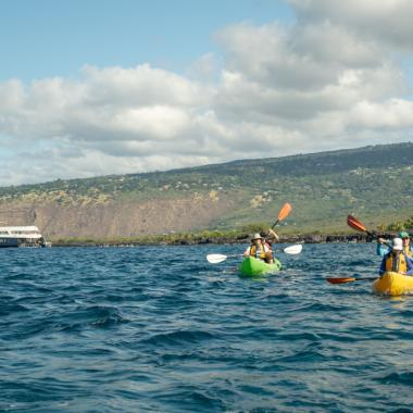 Kayaking near Safari Explorer, Big Island - UnCruise Adventures