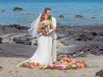 Romantic Wedding - Enjoy romantic weddings at secluded beaches on thew Big Island