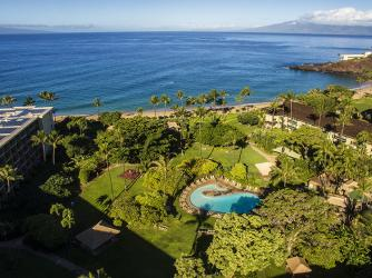 KBH Drone 1 - A bird eye view of Kaanapali Beach Hotel