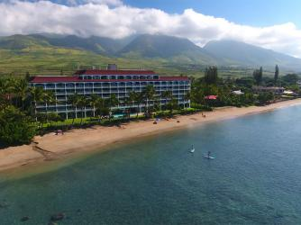 Aerial View of Lahaina Shores Beach Resort